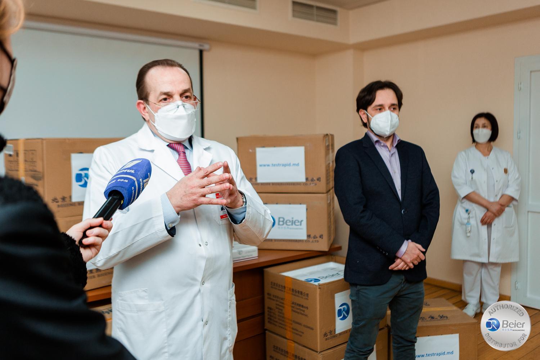 Donație de 10.000 teste rapide pentru personalul medical din Republica Moldova